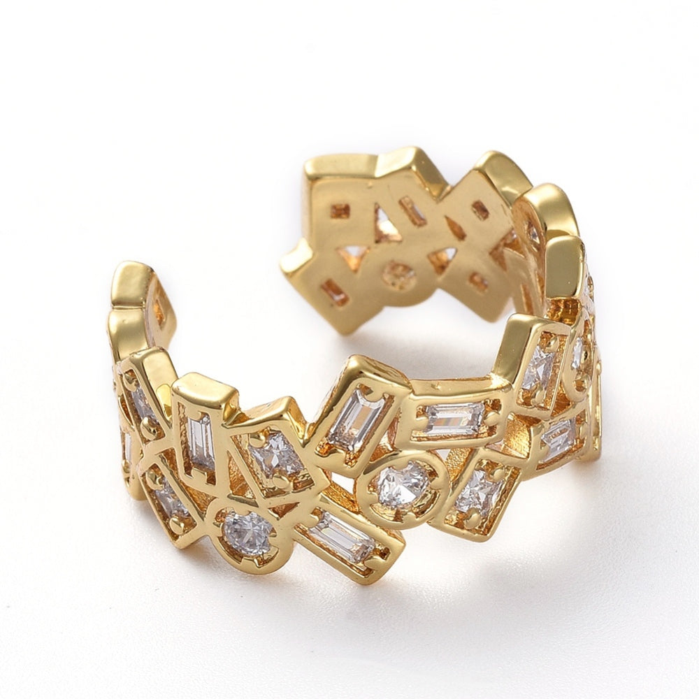 Illuminate Gold Cuff Ring