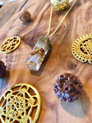 High Vibes Orgone Orgonite® Pendant For Light, Love & Abundance