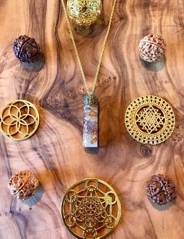 Anahata Shakti Orgone Orgonite® Pendant For Love, Healing & Magic