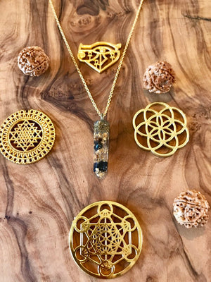 Black Tourmaline Ayahuasca Orgone Orgonite® Pendant For Power, Protection & Prosperity