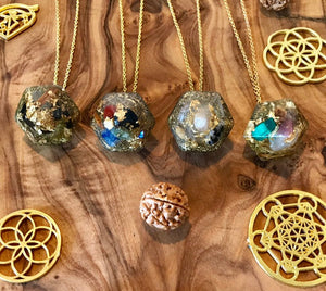 7 Chakra Healing Orgone Orgonite® Pendulum For Harmony, Balance & Energy Alignment