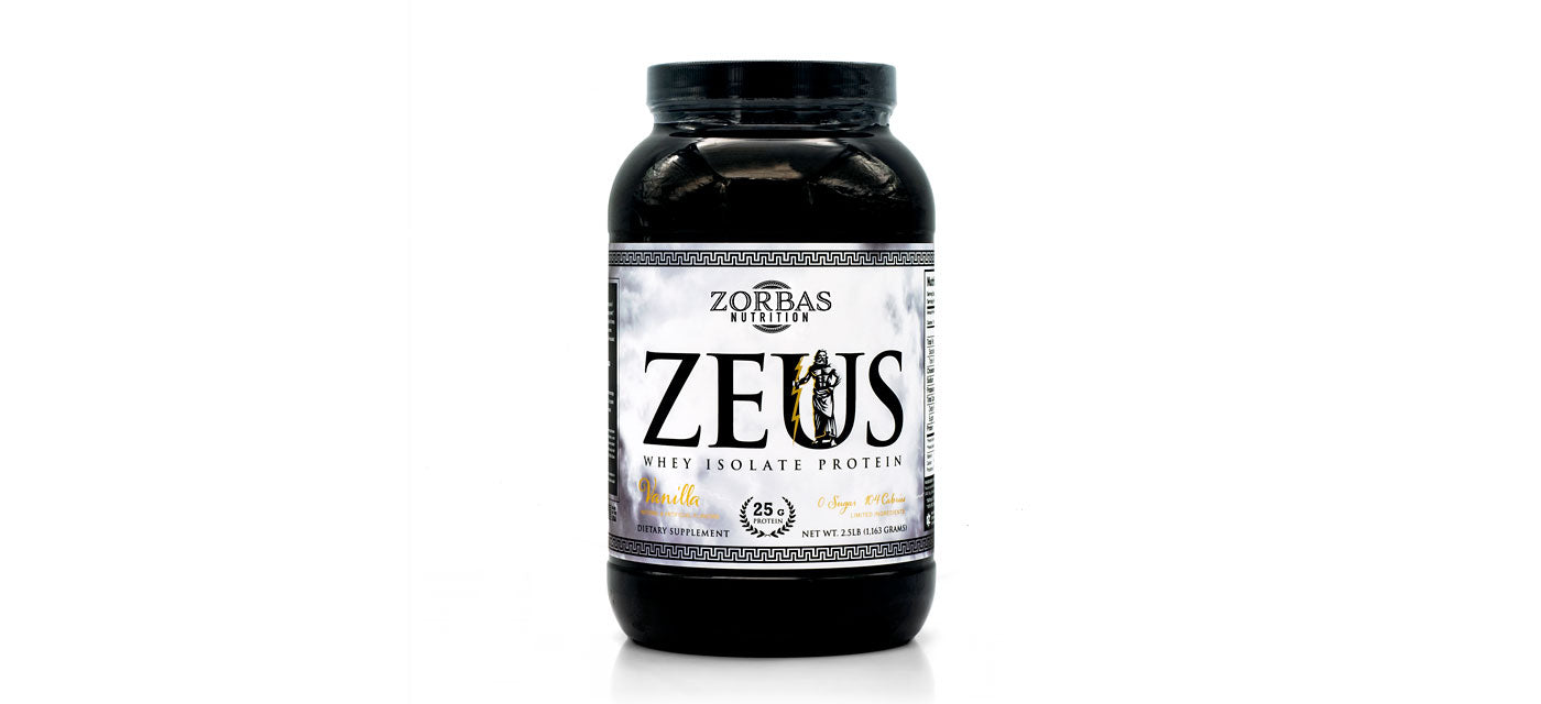 Zeus — Whey Isolate Protein — Greek God Supplement