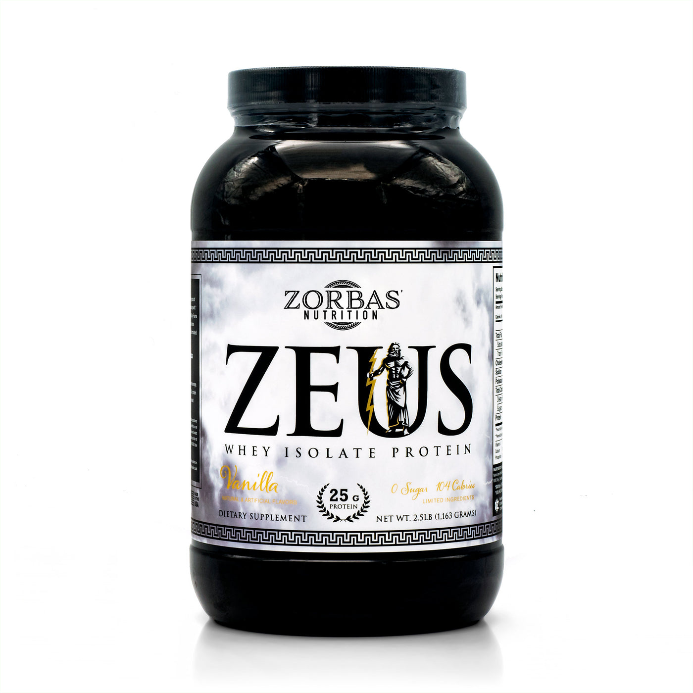 Zeus — Whey Isolate Protein — Greek God Supplements