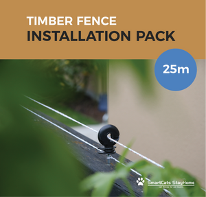 Cat Proof Fence 25m Compact Installation Pack - Timber Fences - Cat Proof Fence | SmartCats StayHome