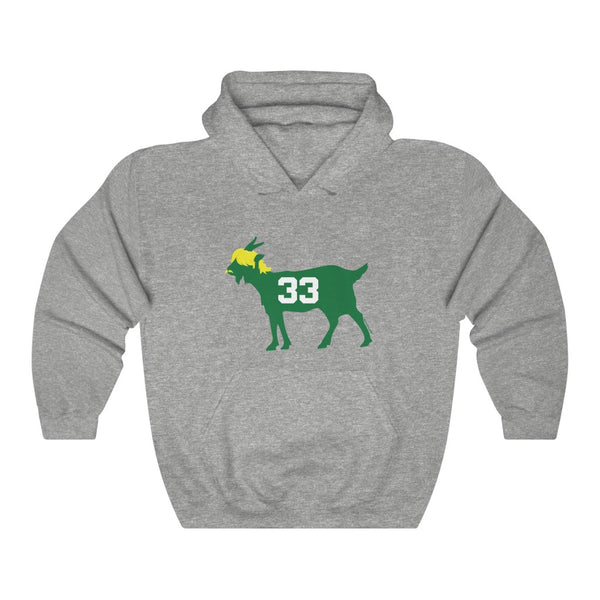Unisex Outah-Wear Boston Basketball GOAT #33 Hooded Sweatshirt