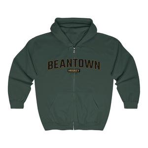 Unisex Outah-Wear Beantown Hockey Heavy Full Zip Hoodie