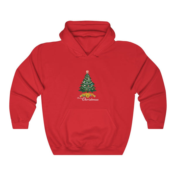 Unisex Outah-Wear Merry Christmas Boston! Heavy Hooded Sweatshirt