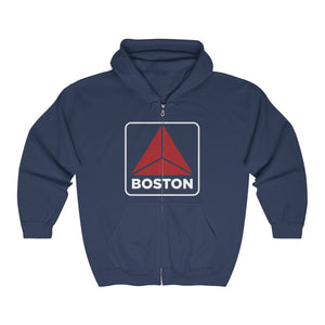 '-Unisex Outah-Wear Modern Fenway Sign Heavy Full Zip Hoodie