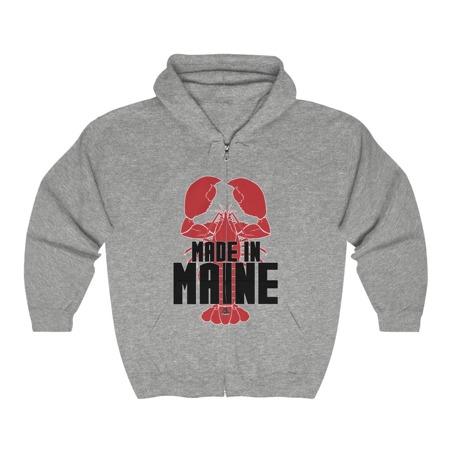 Unisex Outah-Wear Made in Maine Heavy Full Zip Hoodie