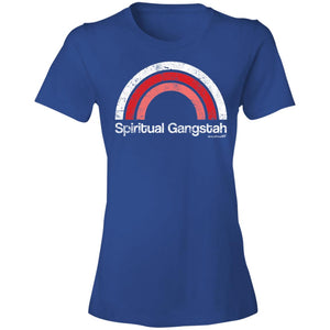 Women's Premium Cotton Spiritual Gangstah Pink Rainbow