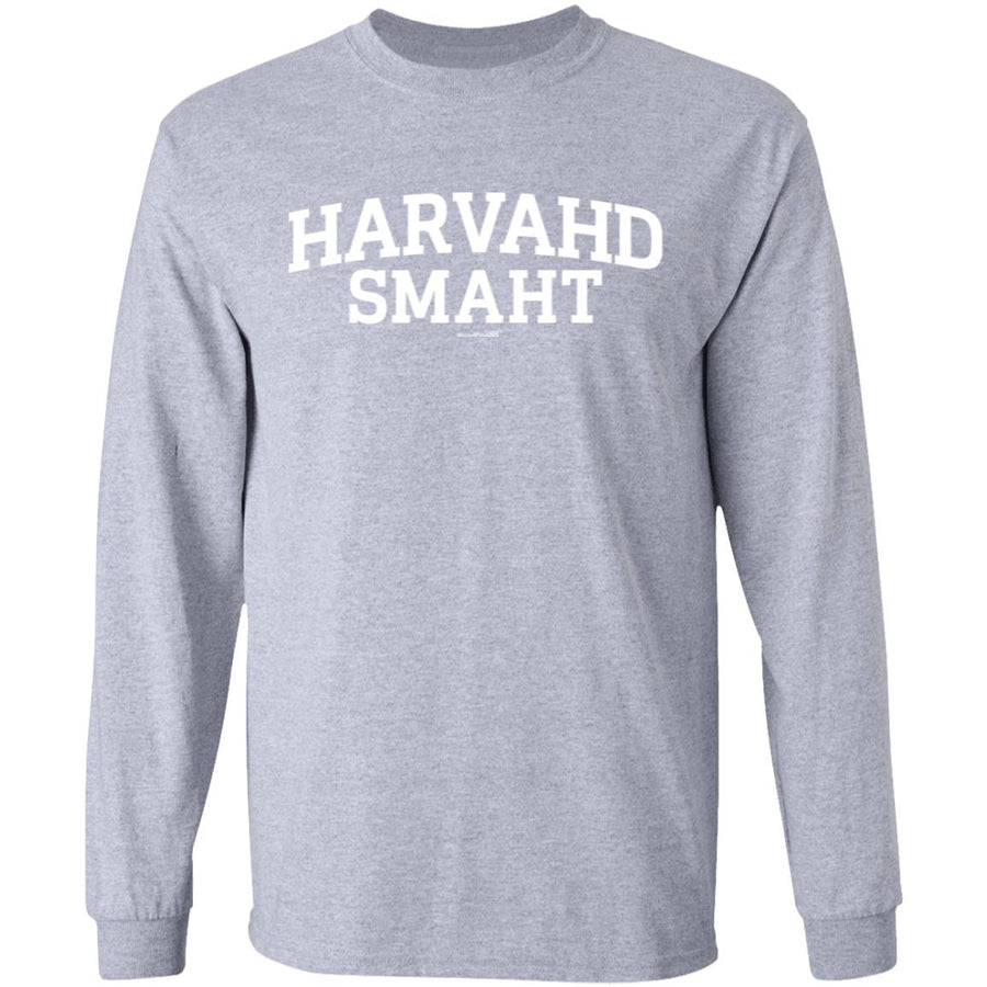 -Men's Premium Cotton Harvahd Smaht White Letters