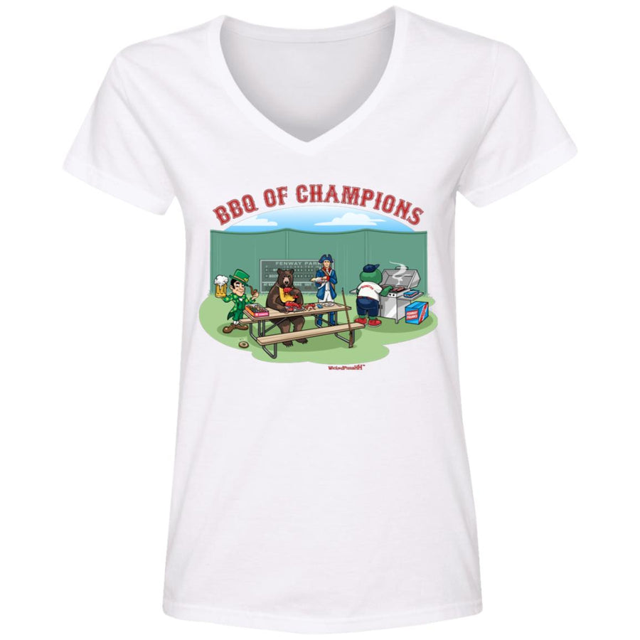 WPFC Women's V-Neck T-Shirt Boston Mascots