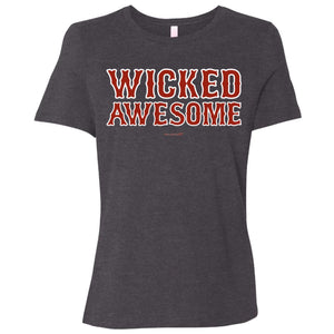 Women's Premium Cotton Wicked Awesome Red Letters+