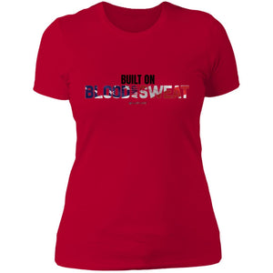 Women's Premium Cotton Built on Blood and Sweat Flag+