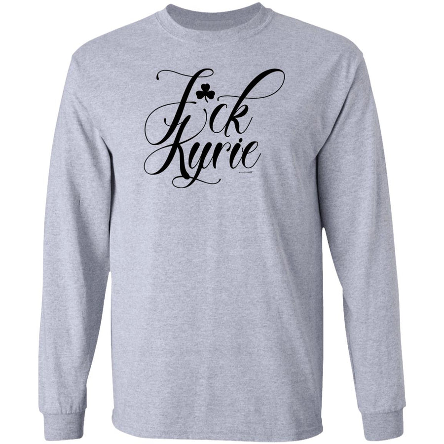 -Men's Premium Cotton F*ck Kyrie Black Script