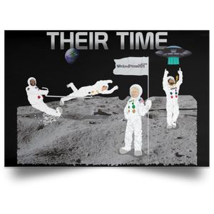 Horizontal Poster Their Time Lgends on Moon