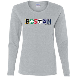 Women's Premium Cotton Boston Logo All Teams+