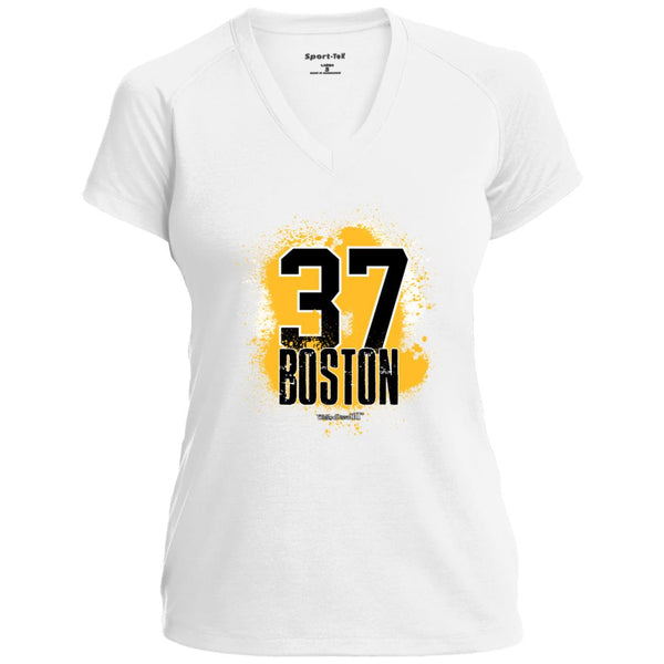 Women's Premium Cotton Boston Hockey 37 Stencil+