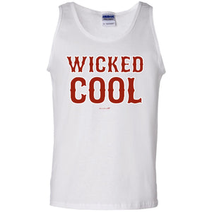 -Men's Premium Cotton Wicked Cool Red Letters