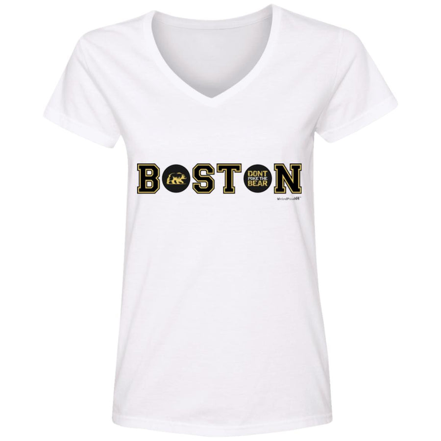 WPFC Women's V-Neck T-Shirt Boston Hockey Bear
