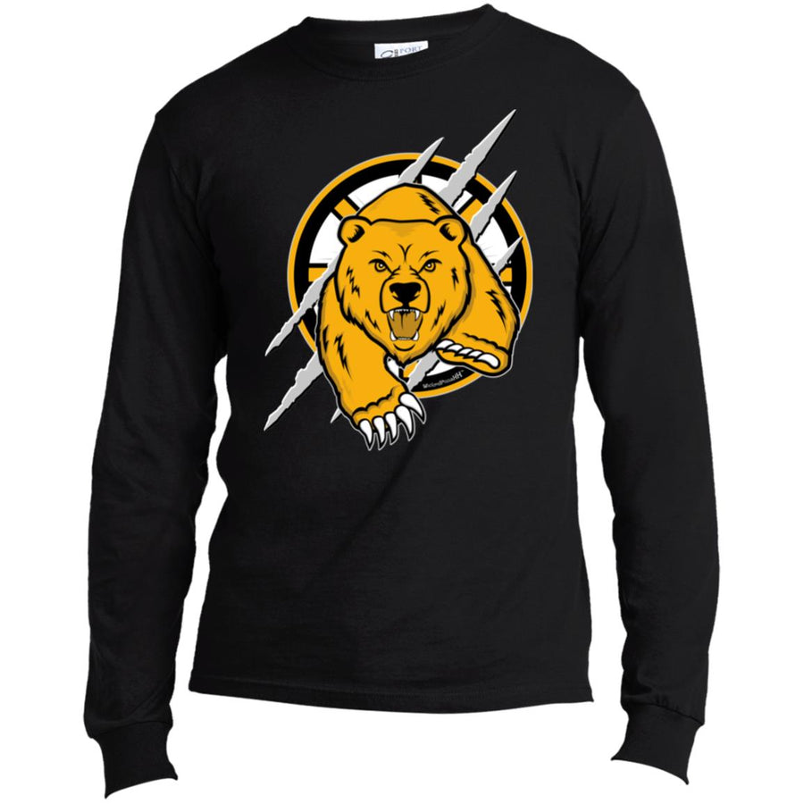 -Men's Premium Cotton Boston Hockey Logo W/Bear