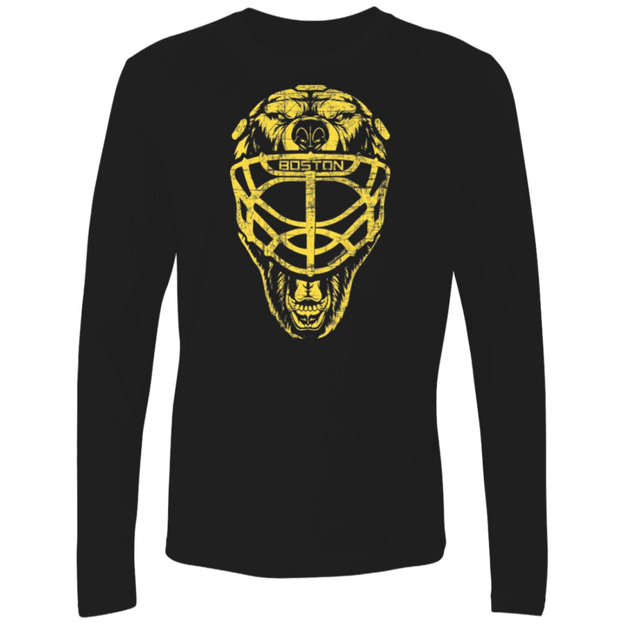 Men's Premium Cotton Boston Hockey: Bear Goalie Mask