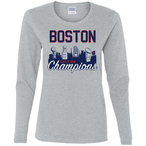Women's Premium Cotton Boston City of Champions