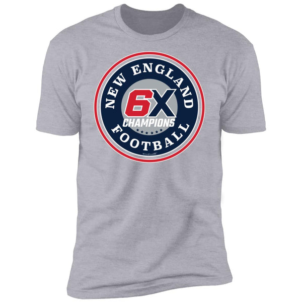 Men's Premium Cotton New England Football 6X Champions