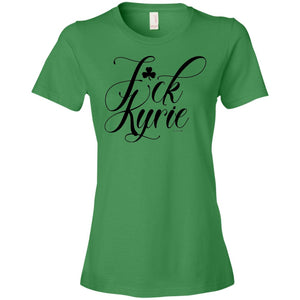 Women's Premium Cotton F*ck Kyrie Black Letters+