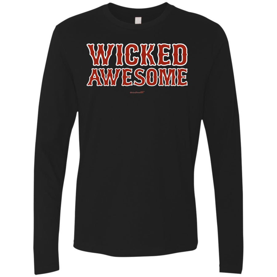 -Men's Premium Cotton Wicked Awesome Red Letters