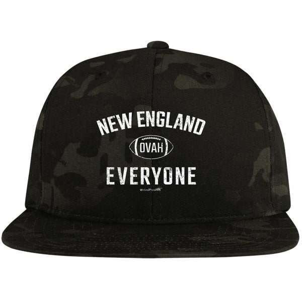 Flat Bill Snapback Hat New England Ovah Everyone