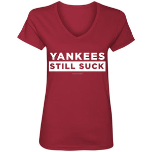 WPFC Women's V-Neck T-Shirt Yankees Still Suck
