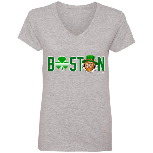 WPFC Women's V-Neck T-Shirt Boston Basketball Angry Leprechaun