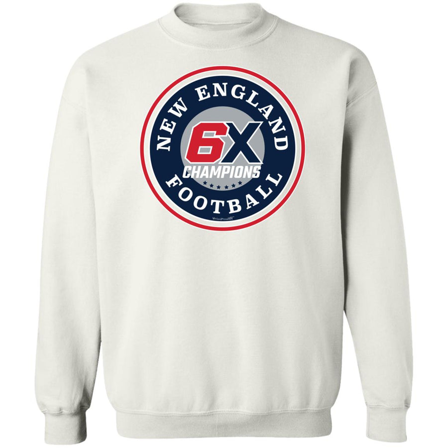 New England Football 6X Champions Unisex Crewneck Outah-Wear Sweatshirt
