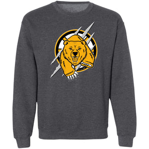 Unisex Outah-Wear Crewneck Sweatshirt Hockey Bear w/Stick