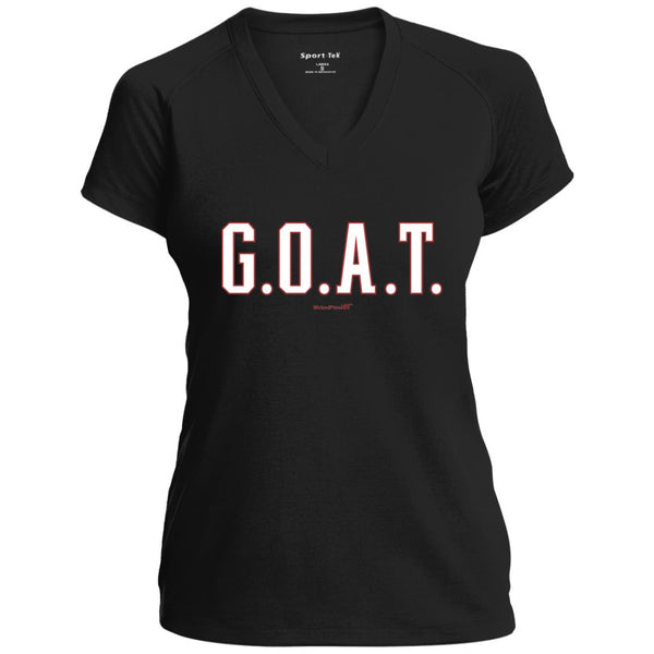 Women's Premium Cotton G.O.A.T. w/Stats on Back White Letters+
