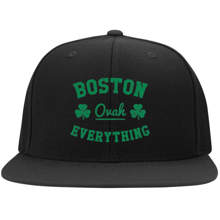 Boston Ovah Everything  Flat Bill Snapback Hat