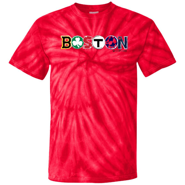 -Men's Premium Cotton Boston's Teams! Tie Dye