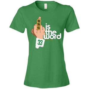 Women's Premium Cotton Bird is The Word Middle Finger Version+