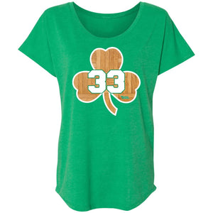 Women's Premium Cotton Wooden Shamrock #33