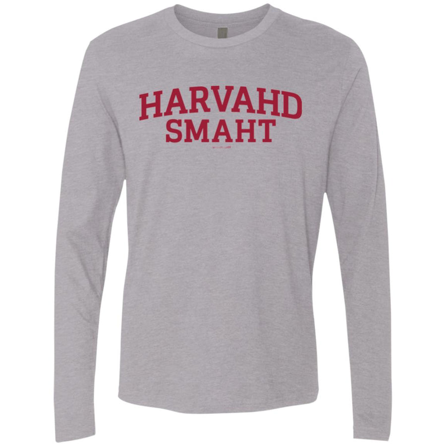 -Men's Premium Cotton Harvahd Smaht Maroon Letters