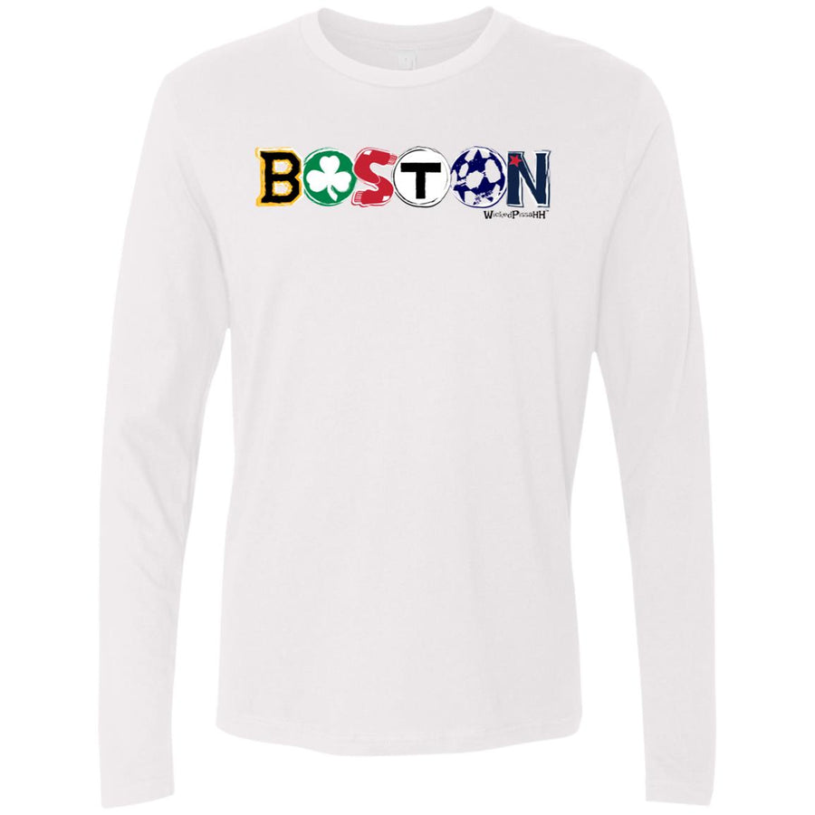 -Men's Premium Cotton BOSTON ALL Teams themed