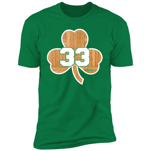 Men's Premium Cotton Boston Shamrock #33 Wood Floor