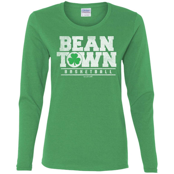 Women's Premium Cotton Beantown Basketball with Shamrock
