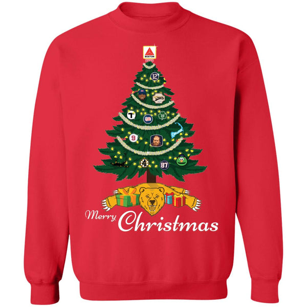 Unisex Crewneck Outah-Wear Merry Christmas Boston Sports! Sweatshirt
