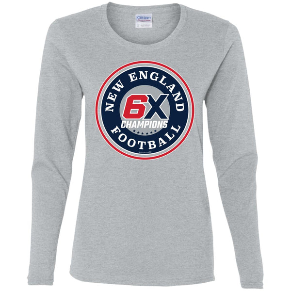 Women's Premium Cotton New England Football 6X Champions