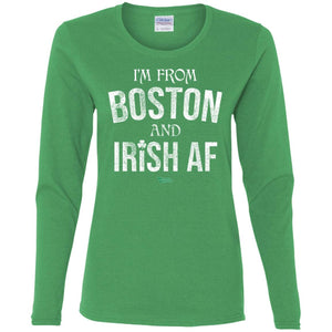 Women's Premium Cotton Boston Irish AF