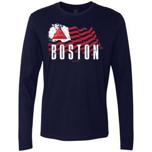 -Men's Premium Cotton Boston Baseball Flag
