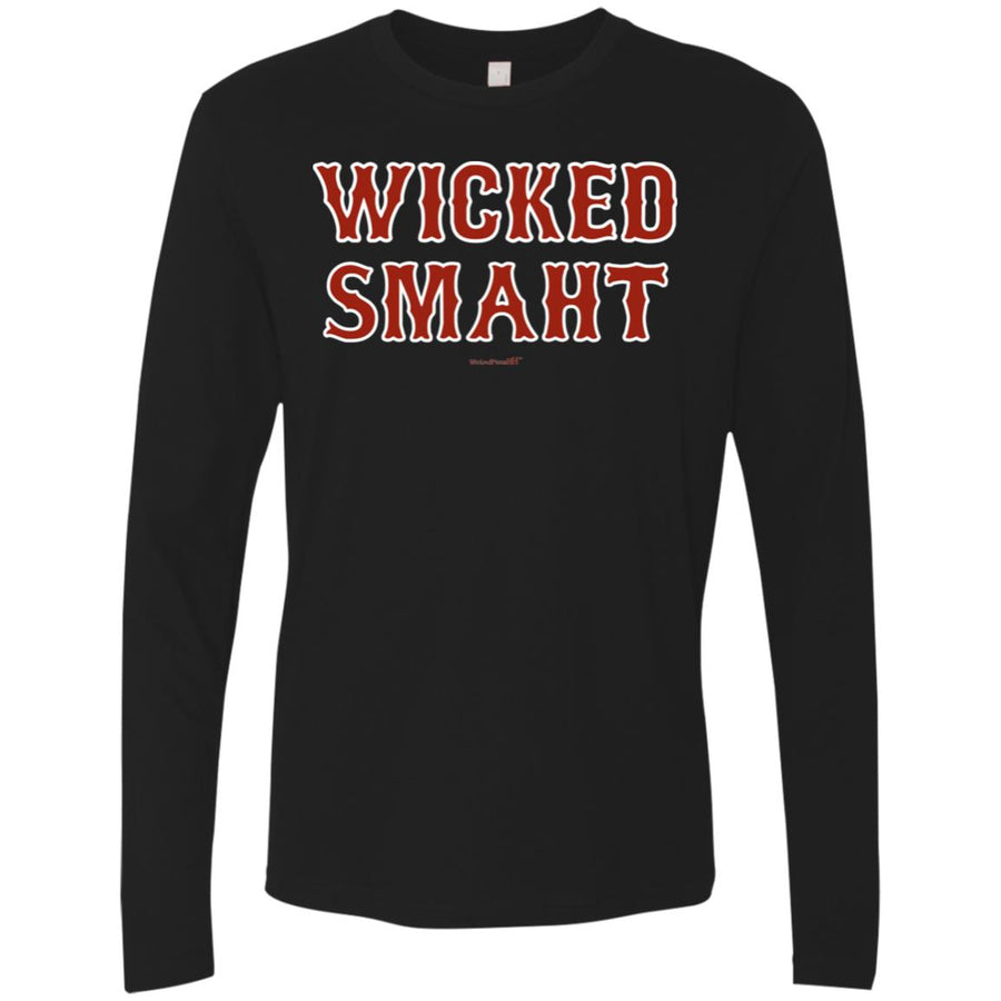 -Men's Premium Cotton Wicked Smaht Red Letters
