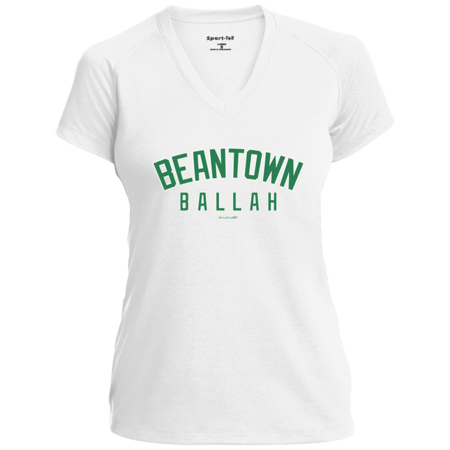 Women's Premium Cotton Beantown Ballah Green Letters